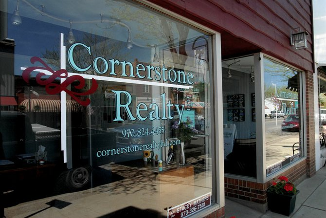 Cornerstone Realty's new office at 508 Yampa Ave. is one part of the business' recent expansions. The new office is about 600 square-feet larger than the old one, with enough space for two offices and two new staff members.