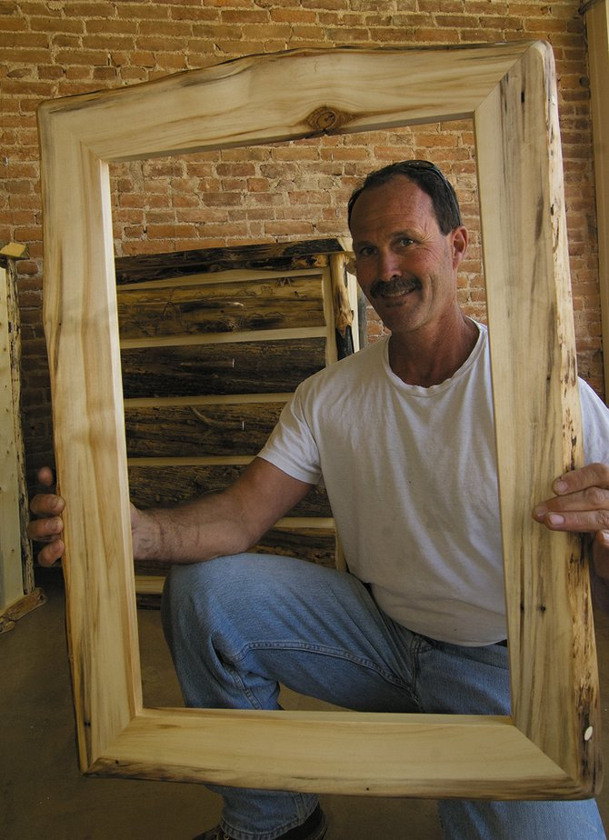 Woodworker Mark Sauer&#39;s brought his art from Laramie, Wyo., to be a part of the First Friday ArtWalk at the Artists&#39; Gallery of Steamboat. Sauer&#39;s work includes picture frames and fine furniture with a unique flare for the natural.