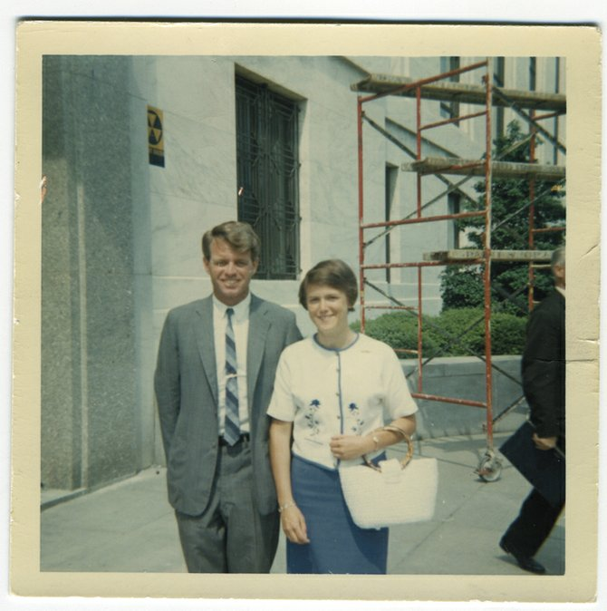 Steamboat Springs resident Diane White-Crane poses with Sen. Robert F. Kennedy outside the New Senate Office Building (now known as the Dirksen Senate Office Building) in 1965 or 1966.