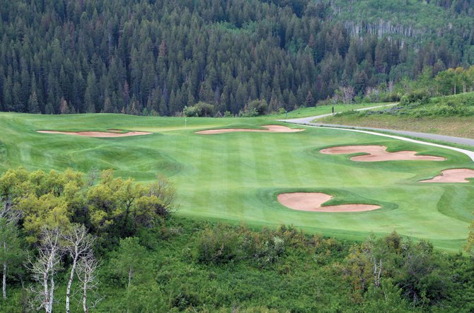 The view from the 12th tee at Catamount Ranch and Club in Steamboat Springs.