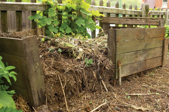 One way to create compost is to recycle garbage and garden scraps.