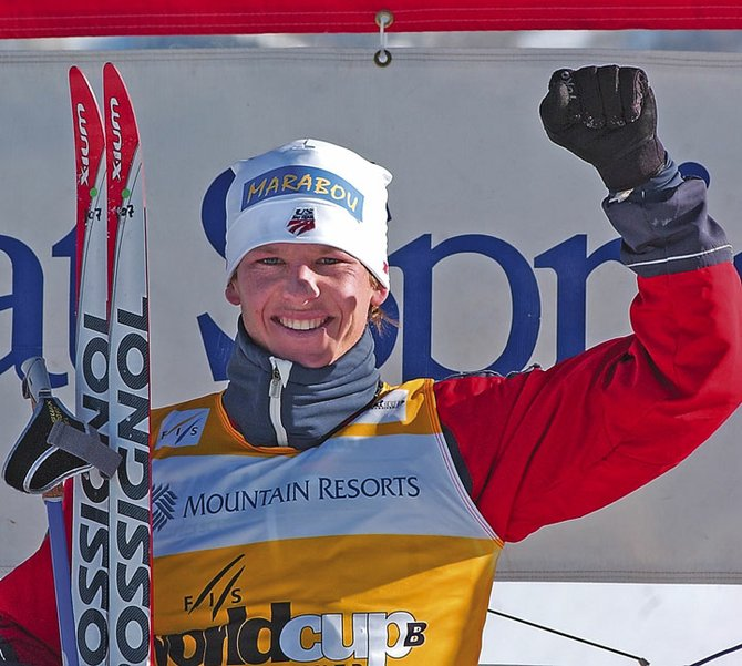 U.S. Ski Team member Todd Lodwick celebrates winning the sprint event at Howelsen Hill in 2006. After retiring in 2006, the skier now plans to make a comeback.