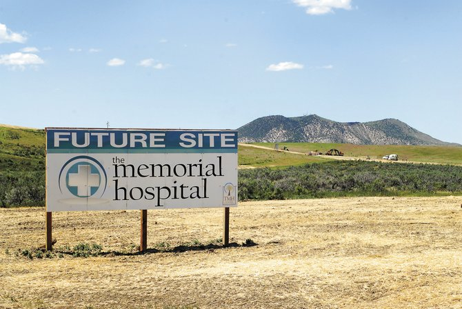 Crews prepare Thursday to start initial construction on the new The Memorial Hospital site west of Craig. Construction is scheduled to begin early next week, following anticipated permit approval from the U.S. Department of Housing and Urban Development.