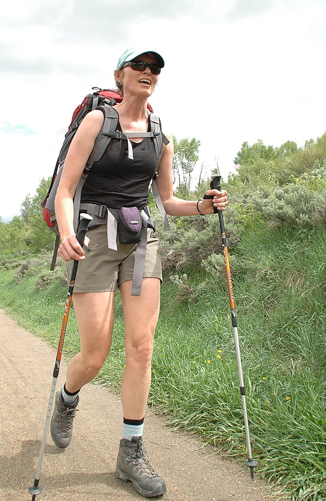 Rosanne Iversen hikes the Spring Creek Trail on June 6 in preparation for summiting Mount Shasta.