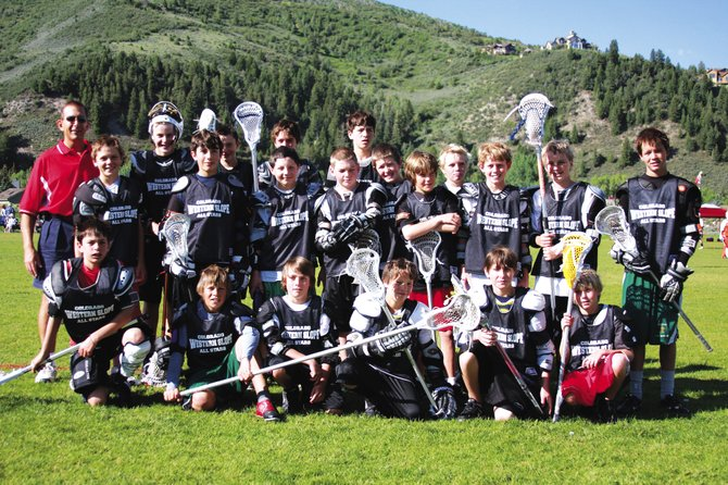 The U-13 Western Slope All-Star team takes a break from the Warrior  Vail Colorado Lacrosse Tournament last week. The team included several members from Steamboat. Steamboat also had players compete on teams in the U-15 and U-17 divisions.