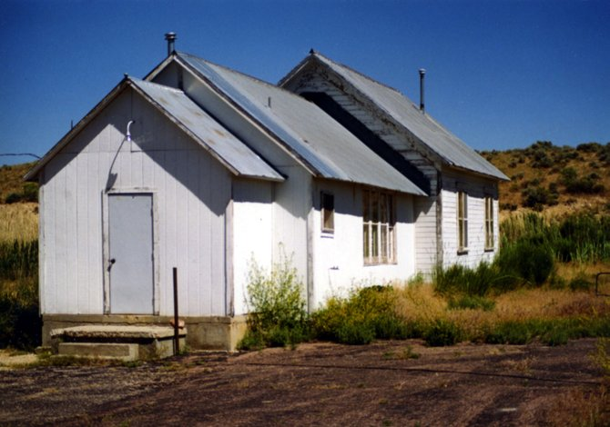 The Browns Park School, shown here as it was photographed in 1998, sits on Bureau of Land Management property about 90 miles west of Craig. The Moffat County School District, which formerly owned the building, gave the county $15,000 it had originally earmarked for the school's demolition. The Browns Park School Alumni Association will use the funds to refurbish the building.