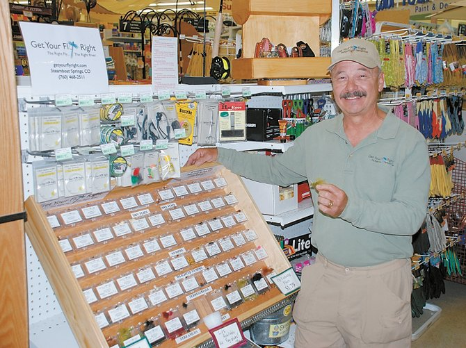 Steve Zamora of Steamboat Springs is the owner and operator of Get Your Fly Right, a business that custom stocks fishing fly selections in displays at grocery, hardware and convenience stores. There are seven locations in Routt County.