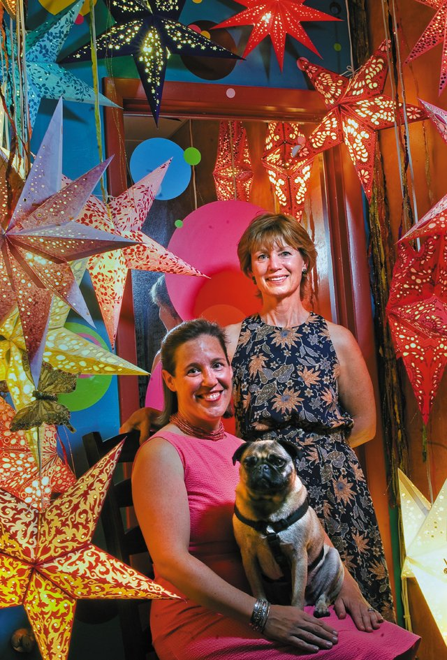Melinda Miller, right, and Ashley Edinburg have found a unique spot in Steamboat Springs' retail market with their store Embellishments. The store provides unique home furnishings, gifts and jewelry to delight visitors and locals. The store's mascot, Earl, is also a regular on the showroom floor.