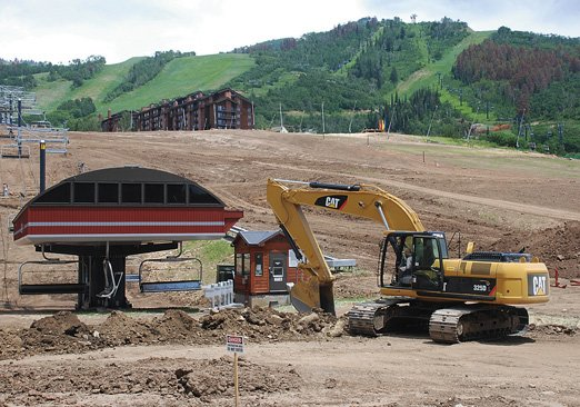 Construction crews at the Steamboat Ski Area are completing utility work and re-grading of the Stampede, Lil&#39; Rodeo, Preview and North Headwall trails. Topsoil is being redistributed in preparation for sowing native grasses. At the same time, officials are consulting on the best way to manage dying stands of lodgepole pines that have turned some of the ski slopes orange.