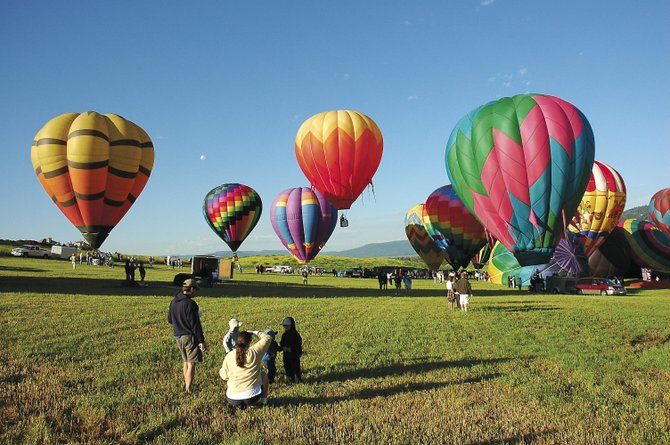 The annual Balloon Rodeo will take place at Bald Eagle Lake off U.S. Highway 40.