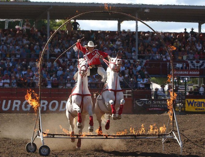 Max Reynolds will bring his Roman riding and trick roping routine this weekend to the Steamboat Springs Pro Rodeo Series. Reynolds has been performing his act across the country for 40 years and has made several previous stops in Steamboat.