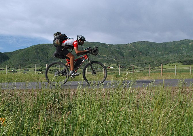 Steamboat Springs resident Leighton White rides last month in the Tour Divide mountain bike race, a 2,711-mile race that mirrored the continental divide from Alberta to New Mexico. White finished the race in just more than three weeks.