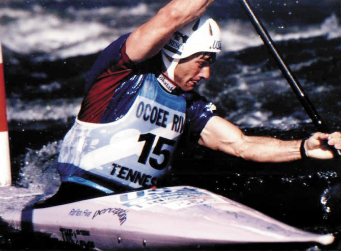Steamboat Springs kayaker Rich Weiss is shown at the 1996 Olympic Games. Weiss finished sixth that year.