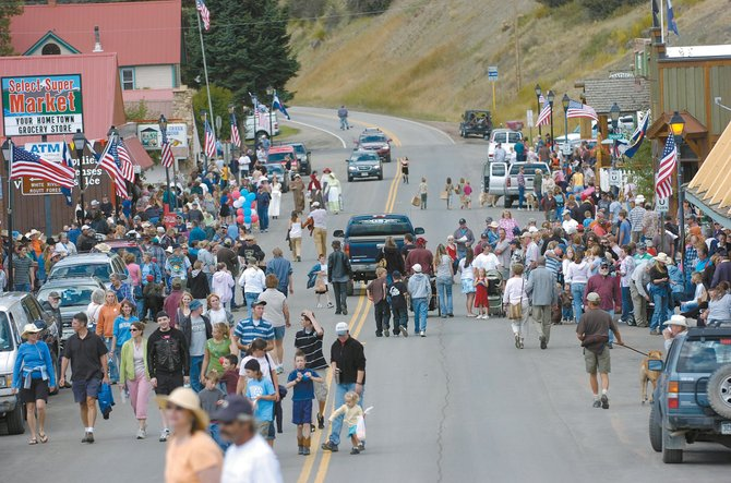 Residents fill Main Street in Oak Creek after Monday's Labor Day Parade. The weather cooperated as residents and onlookers stayed dry during the event.