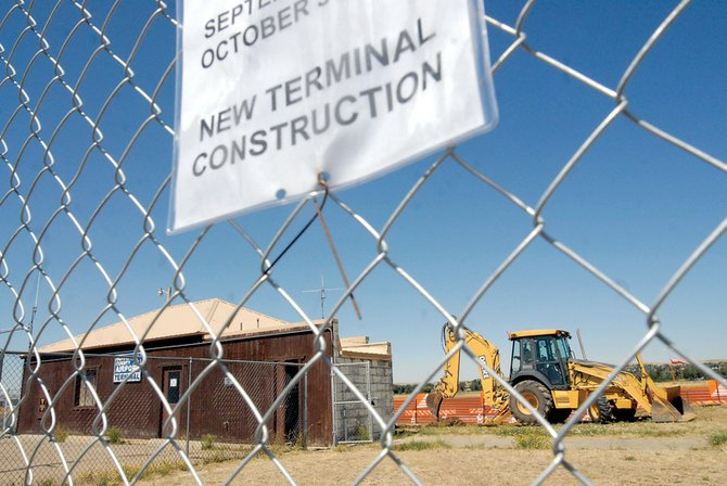 Construction on a new terminal began Wednesday at Craig/Moffat County Airport. Domson Excavation and Trucking has 60 days to complete the project.