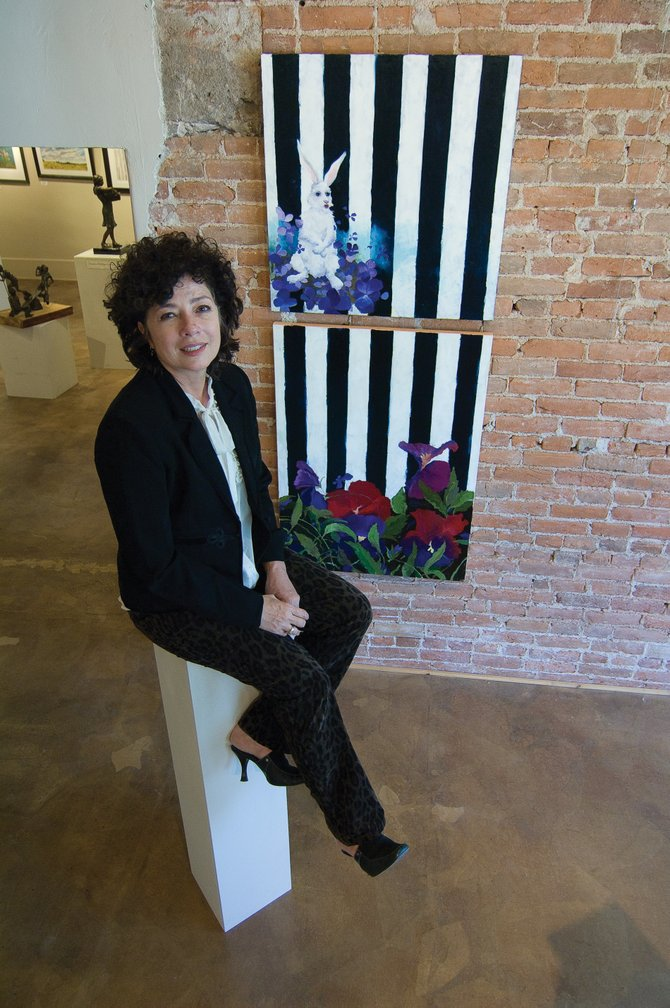 Painter Susan Schiesser&#39;s art will be featured this month as part of the Artists&#39; Gallery of Steamboat&#39;s First Friday ArtWalk. Schiesser&#39;s work will be displayed alongside that of artist Patricia Walsh in a show they call &quot;Something Wild.&quot;