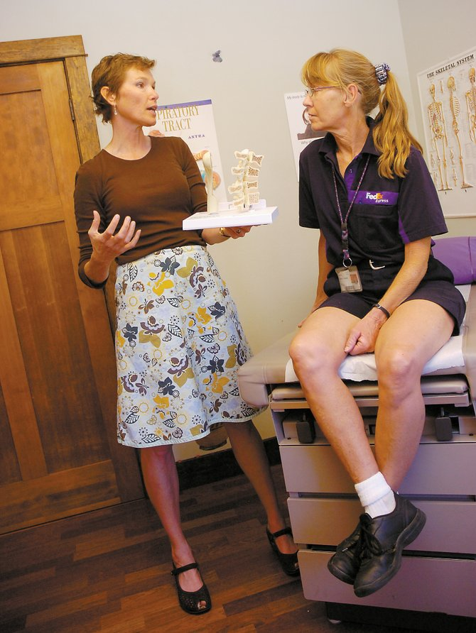 "Dr. Rosanne Iversen, left, will present a free health program called ""My Climb for Breast Cancer Prevention"" at 7 p.m. Wednesday at Yampa Valley Medical Center."