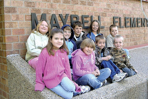 Maybell Elementary School recently received a $1,000 grant from Pioneer Natural Resources, which the school will use to purchase computer tables. Maybell Elementary students, pictured above, will use the tables, as will Maybell senior citizens enrolled in a computer class offered by the Colorado Northwestern Community College's Aging Well program. Maybell Elementary students, front row, left to right: Katelynn Turner, Hope Stephenson, Brandon Calim-Nottingham, Dylan Hicks. Back row, left to right: Becky Williamson, Joshua Turner, Noah Gowdy, Sheyanne Howe, and Drake Doherty.