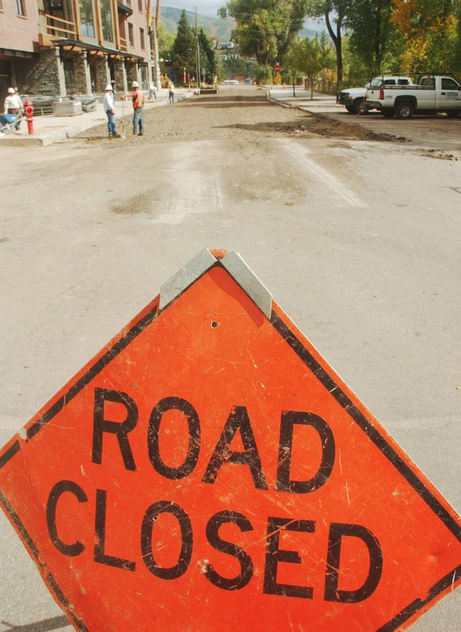 Yampa Street between Fifth and Sixth streets will be closed through Monday for repaving, weather permitting.