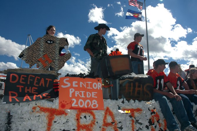 Last year's Hayden High School seniors, the class of 2008, show their Tiger spirit during the school's homecoming parade in October 2007. This year's Hayden homecoming events start today.