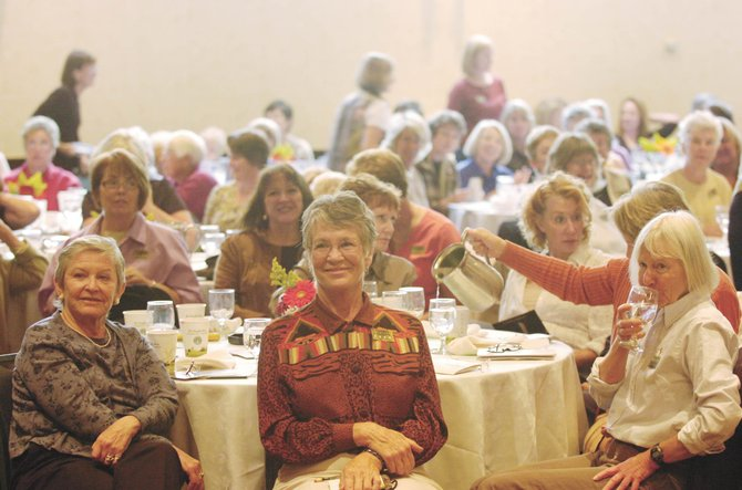 Attendees of the 16th annual Literary Sojourn listen to novelist Elizabeth Strout conclude her talk Saturday at the Sheraton Steamboat Resort.