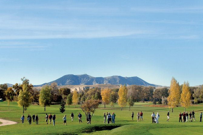 The gallery waits behind the 18th green Tuesday during the final round of the 4A high school state golf championships. Yampa Valley Golf Course was the backdrop for more than 80 of Colorado's best high school golfers
