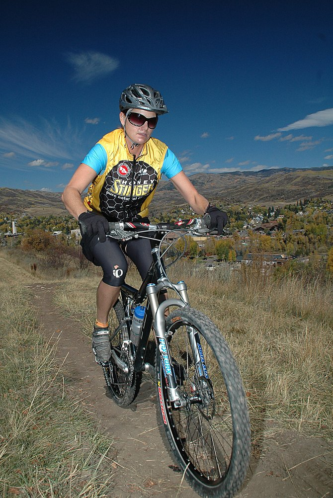 Steamboat Springs resident Kris Cannon works Tuesday through one of her final workouts before Saturday's start to the 24 Hours of Moab mountain bike race. Cannon has raced the Moab event once before but will tackle it solo for the first time this year.