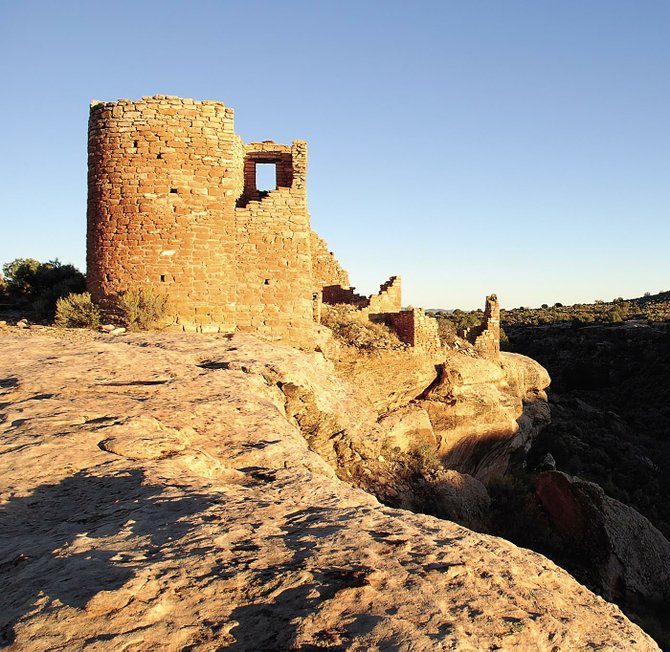 Archaeologists theorize that ancient Puebloan structures such as Hovenweep Castle, which admit light through windows at the solstices and equinoxes, were used as calendars to guide planting and harvesting of crops.