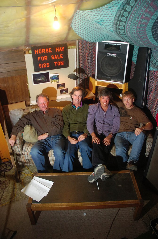 Worried Men members, from left, Willie Samuelson, Randy Kelley, Jon Gibbs and Pat Waters are pictured in their rehearsal room.