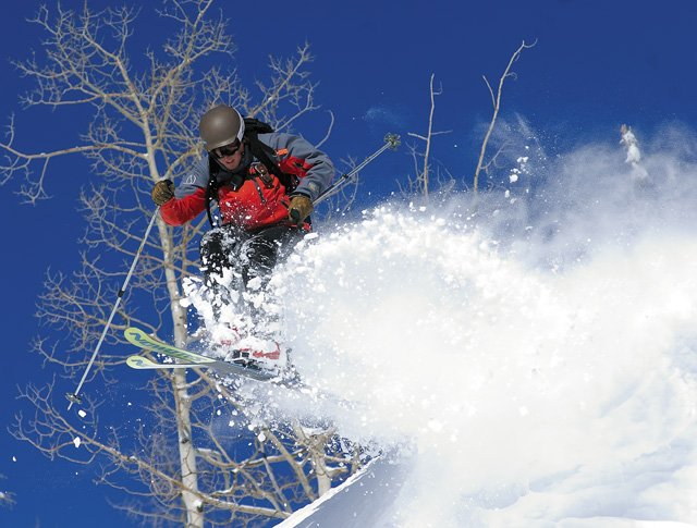 Blue sky and fresh powder greeted Steamboat Powdercats guide Todd Dills during last year's epic season in Steamboat Springs. The forgiving powder provides the perfect playground for expert skiers such as Dills, and a good time for skiers with less experience.