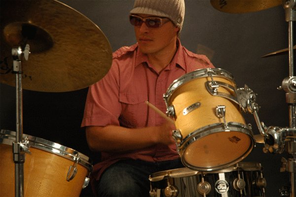 Todd Anders Johnson plays drums and sings for his band, Salem. The Latin-influenced group plays in support of its new CD on Saturday at Mahogany Ridge.