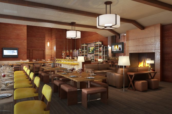 An artist rendering of the interior of the St. Cloud Mountain Club.