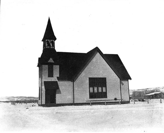 Pictured is the original Christian Church at the corner of Sixth Street and Yampa Avenue in Craig.