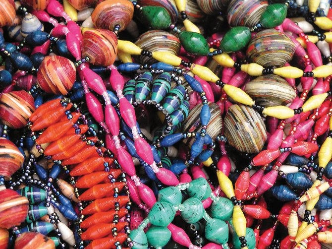 BeadforLife works with women in Uganda to make beads out of recycled paper. Those beads are used in jewelry, which then is distributed through community parties, such as the one from 6 to 8 p.m. Saturday at Artists' Gallery of Steamboat. Jewelry will be available for purchase at $5 to $30 per item.