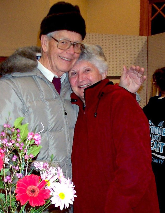 Loyd DeuPree, left, is pictured with his wife, Elaine, in a photograph taken a few years before his death in 2006.