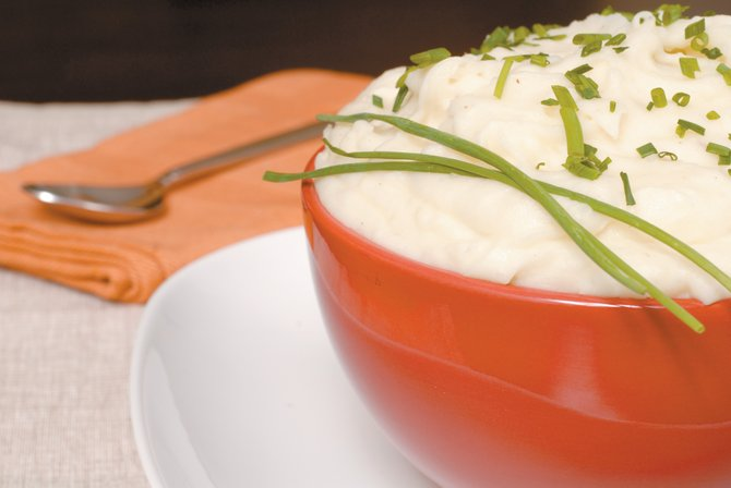 A bowl of mashed potatoes is therapy to Joanne Palmer's ears (or mouth).