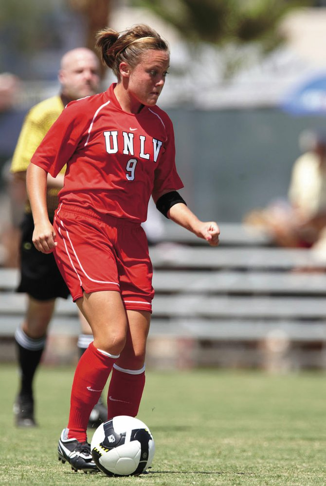 Kelly Labor, a 2006 Steamboat Springs High School graduate, continues to play Division I soccer at the University of Nevada, Las Vegas. Labor has battled injuries and a postion change during her college career, but she is primed for a big senior season. UNLV women's soccer team beats UNR during a match Aug. 29, 2008, at the University of Nevada, Las Vegas.