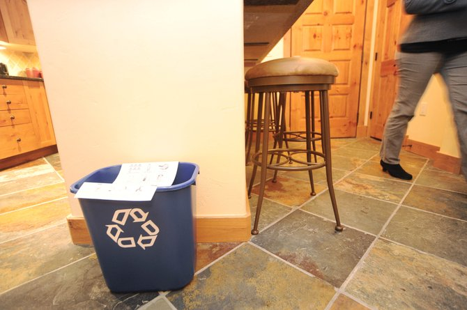 The addition of single-stream recycling containers helped ResortQuest Vacation Rentals earn the gold certification from the Steamboat Springs Chamber Resort Association's Sustainable Steamboat Business Program.
