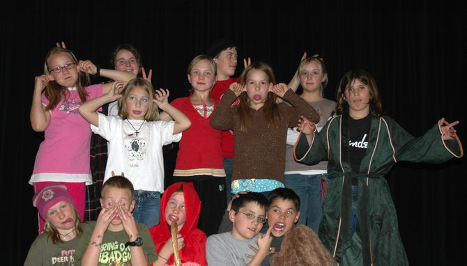 "Students in South Routt participate in Totally Amazing Drama Adventure, a semester-long children's theater program. The group is putting on ""Wooing Wed Widing Hood"" at 7 p.m. Saturday."