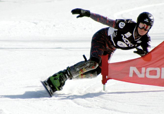 Steamboat Springs snowboarder Justin Reiter, shown here competing on the World Cup Tour, had a season-ending knee surgery last week. He still hopes to make the 2010 Olympics in Vancouver, B.C.
