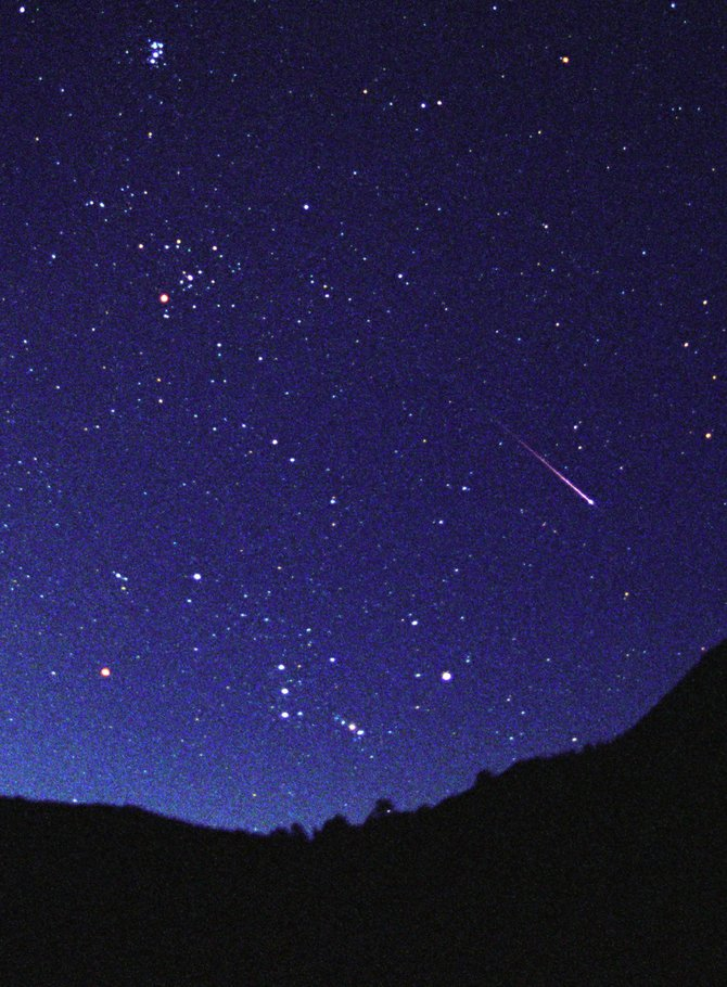 Early risers Saturday might be rewarded with the best Quadrantid meteor shower in years.  The meteors, like this one seen just before dawn Aug. 12, will spring from the Northeast sky near the handle of the Big Dipper.
