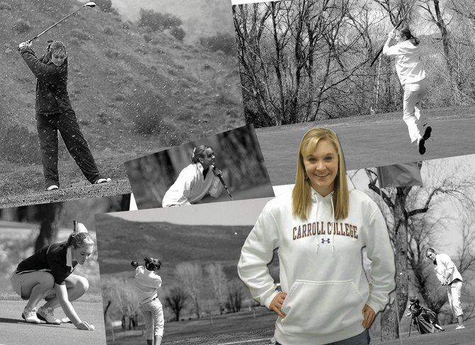 Meghan Innes, the 2008 Western Slope League female golfer of the year while at Moffat County High School - and four-time state qualifier - has taken her game to the next level. The Carroll College freshman is second for the Saints in scoring average and has placed in the top 15 in each of her three college tournaments.