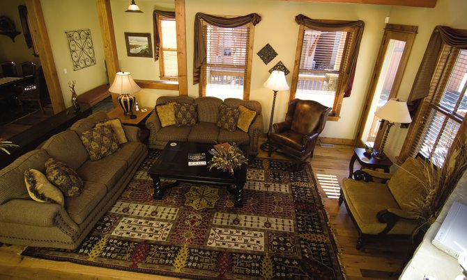 The warm, inviting living spaces designed into the homes in The Porches of Steamboat were made to accommodate extended families and entertain close friends.