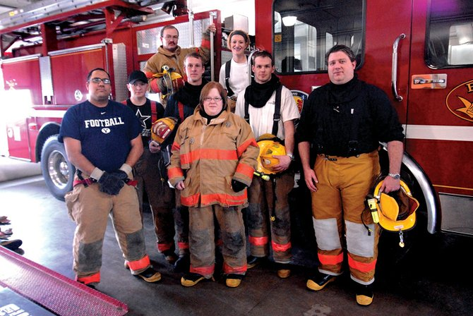 Craig Fire/Rescue currently has nine new recruits. Front row, from left, are Carl Sokia, Rachel Nicodemus and Shane Thomas; middle row, from left, are Justin Fedinec, Chad Elliott, Larry Moe; and back row from left, Wade Johnson and Joby Told. Bill Scalzo is not pictured.
