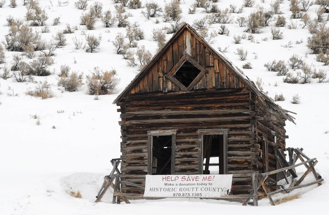 The Diamond Window Cabin in Stagecoach will be restored during a practical training historic preservation summer course.