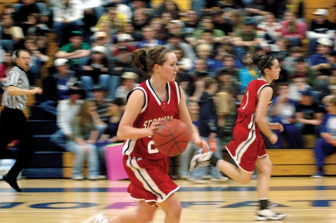 Steamboat Springs senior Brittany Long runs the Sailors offense Tuesday at Moffat County. The Sailors hung with the host Bulldogs for the game's first three quarters but couldn't close the deal, losing 42-30.