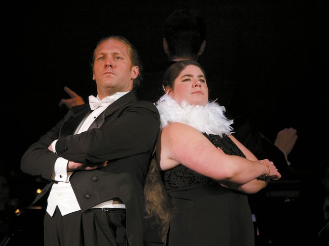 "Bass-baritone singer Derrick Ballard with Steamboat Springs resident Michelle Hess in Emerald City Opera's 2006 production of ""Letters for Mozart."" Ballard returns to Steamboat for the first time since that production with a recital at 7 p.m. today."
