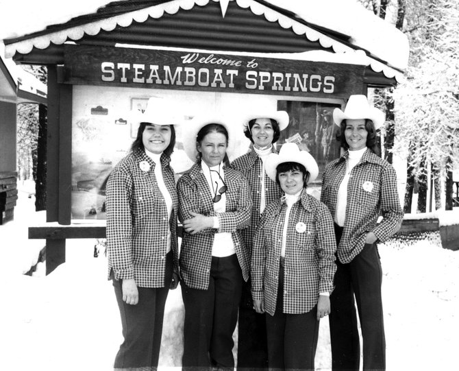 The staff of the Steamboat Springs Chamber of Commerce poses outside its 1201 Lincoln Ave. headquarters in December 1973. The building was designed by noted architect Eugene Sternberg. It was dedicated in 1960 and recently was added to the Colorado Register of Historic Places.