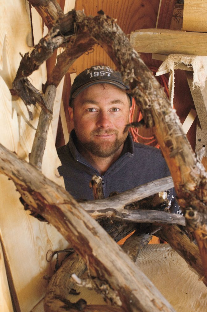 Woodworker Matt Graves creates his art out of wood that normally would find its way into wood-burning stoves or fireplaces.