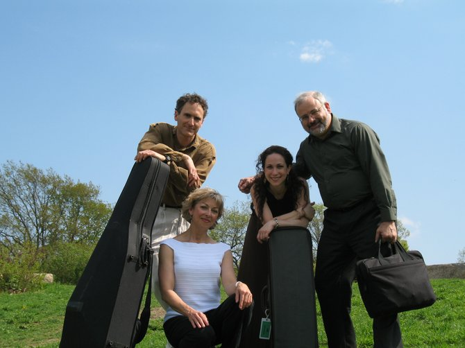 Debra Ayers and Sarita Uranovsky (left and right center), of Boston's Montage Music Society, join clarinetist Molly Walker to perform in Steamboat Springs on Tuesday in a concert presented by Colorado Mountain College. The program includes classical works influenced by jazz and tango music. (Montage players Marc Moskovitz and Bruce Creditor, also pictured, are not performing).